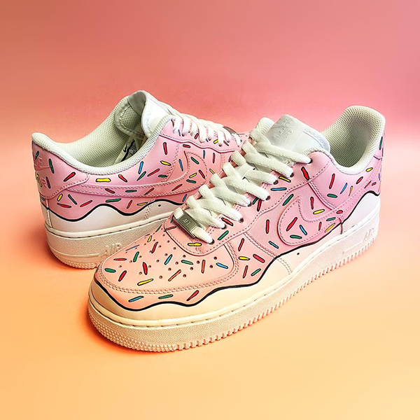 Melonkicks custom nike air force 1 donut