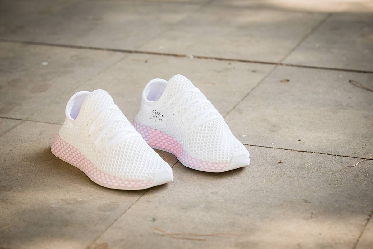 adidas Originals Deerupt White & Pink